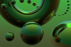 Composição abstrata com esferas do vôo ilustração do vetor