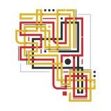 Composição abstrata com linhas angulares do cruzamento Imagens de Stock Royalty Free