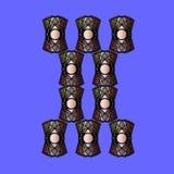 Composição abstrata da cor com cursos de uma cor Foto de Stock Royalty Free