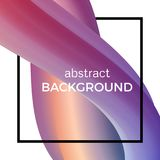 Composição abstrata da onda da aquarela no quadrado preto Imagens de Stock