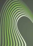 Composição abstrata das ondas verdes Imagens de Stock