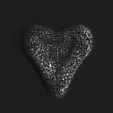 Composição abstrata das partículas sob a forma de um coração Dia do `s do Valentim Fotografia de Stock