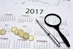 Composição abstrata de fazer planos do ano Fotos de Stock Royalty Free