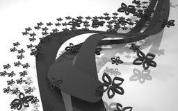 A composição abstrata dinâmica ilustração royalty free