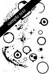 Composição abstrata do ponto e dos círculos Imagem de Stock
