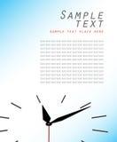 Composição abstrata do vetor - o conceito do tempo Fotos de Stock Royalty Free