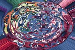 Composição abstrata em cores verdes, alaranjadas, azuis e vermelhas Foto de Stock
