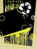 Composição abstrata - preto e amarelo Fotografia de Stock