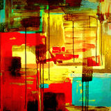 Composição acrílica da pintura Foto de Stock