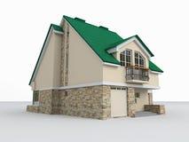 Composição arquitectónica 3 ilustração royalty free