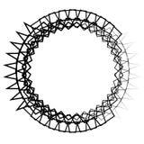 Composição artística nervosa, aleatória de formas geométricas ilustração stock