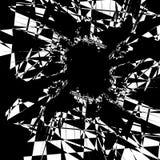 Composição artística nervosa, aleatória de formas geométricas ilustração royalty free