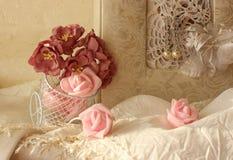 Composição bonita com flores Fotografia de Stock Royalty Free