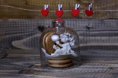 Composição bonita do feriado do Valentim Imagens de Stock Royalty Free