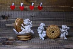 Composição bonita do feriado do Valentim Imagem de Stock