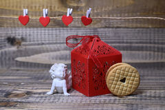 Composição bonita do feriado do Valentim Imagens de Stock