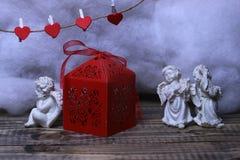 Composição bonita do feriado do Valentim Foto de Stock