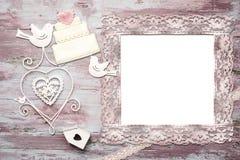 Composição bonita do vintage para o convite do casamento Imagens de Stock Royalty Free