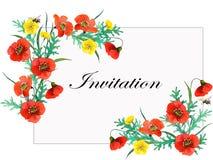 Composição botânica para o casamento ou o cartão ilustração do vetor