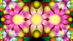 Composição brilhante de flores estilizados Pintura decorativa Fotografia de Stock Royalty Free
