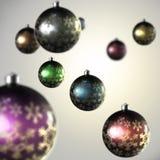 Composição clara de esferas do Natal Fotos de Stock