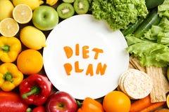 Composição colocada lisa com alimento saudável e palavras foto de stock royalty free