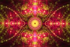 Composição colorida abstrata do fractal Estrela mágica da explosão com partículas Ilustração do movimento Fundo bonito Imagem de Stock Royalty Free