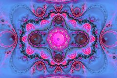 Composição colorida abstrata do fractal Estrela mágica da explosão com partículas Ilustração do movimento Fundo bonito Fotografia de Stock Royalty Free