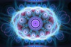 Composição colorida abstrata do fractal Estrela mágica da explosão com partículas Ilustração do movimento Fundo bonito Fotografia de Stock
