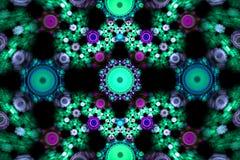 Composição colorida abstrata do fractal Estrela mágica da explosão com partículas Ilustração do movimento Fundo bonito Imagens de Stock Royalty Free
