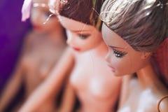 Composição colorida com bonecas de Barbie Fotografia de Stock