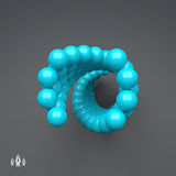 composição colorida das esferas 3d Molde do vetor Estilo futurista da tecnologia Ilustração do vetor para o design web, tecnologi Foto de Stock Royalty Free