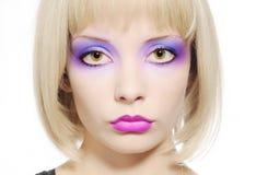 Composição colorida face da rapariga Foto de Stock Royalty Free