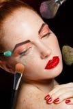 Composição colorida profissional para modelos ruivos Fotos de Stock