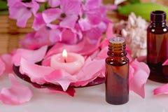 Composição com óleos aromáticos Fotos de Stock