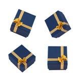 Composição com as caixas de presente no branco Fotos de Stock