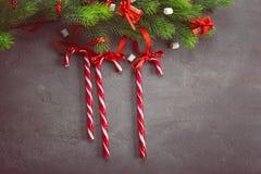 Composição com bastões de doces Foto de Stock Royalty Free