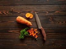 Composição com cenoura Fotos de Stock