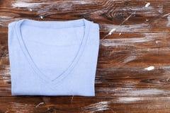 Composição com a roupa dobrada, unisex para o homem e a mulher, cor diferente & material Pilha da lavanderia, roupa limpa seca Imagem de Stock Royalty Free