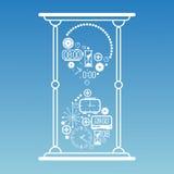 Composição com símbolos do tempo Foto de Stock Royalty Free