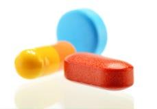 Composição com variedade de comprimidos da droga Fotografia de Stock Royalty Free