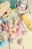 A composição consiste em ovos da páscoa Fotografia de Stock Royalty Free