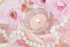 Composição cor-de-rosa Imagens de Stock Royalty Free