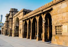 Composição criativa de Jama Masjid & de x28; mosque& x29; em Ahmedabad fotografia de stock royalty free