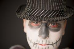 Composição criativa do crânio para Dia das Bruxas Fotos de Stock Royalty Free