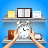 Composição 3d realística da gestão de tempo Fotografia de Stock