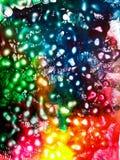Composição da aquarela do céu cósmico fotografia de stock