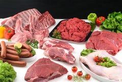 Composição da carne Imagens de Stock