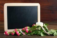 Composição da celebração da mola no tema do dia das mulheres Foto de Stock Royalty Free