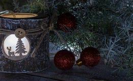 Composição da decoração do Natal imagem de stock